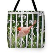 Cardinal Tail Up Landing Tote Bag