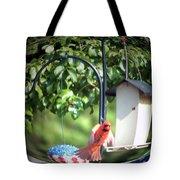 Cardinal Tail Wide Landing Digital Art Tote Bag