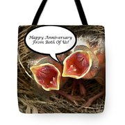 Cardinals Anniversary Card Tote Bag