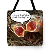 Cardinals Birthday Card Tote Bag