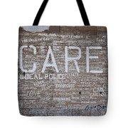 Care In Detroit  Tote Bag
