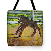 Carefree Pony Tote Bag