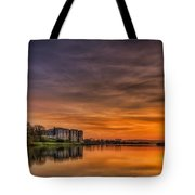 Carew Castle Sunset 1 Tote Bag