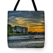 Carew Castle Sunset 3 Tote Bag