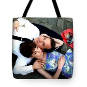 Carey Mulligan And Peter Sarsgaard In The Film An Education  By Lone Scherfig - 2009 Tote Bag