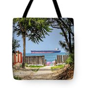 Cargo Ship On Chesapeake Bay Tote Bag