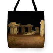 Carhenge At Night Tote Bag