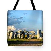 Carhenge Somewhere In Nebraska Tote Bag