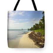 Caribbean Beach In Ambergris Caye Belize Tote Bag