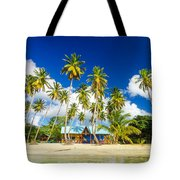 Caribbean Beach Shack Tote Bag