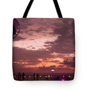 Caribbean Cruise Light Show Tote Bag