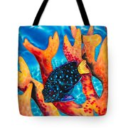 Caribbean Damselfish Tote Bag