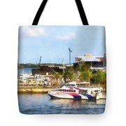Caribbean - Dock At King's Wharf Bermuda Tote Bag