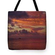Caribbean Early Sunrise Tote Bag