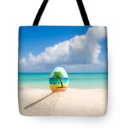 Caribbean Easter Egg Tote Bag