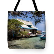 Caribbean House And Boat Tote Bag
