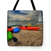 Caribbean Kayaks Tote Bag