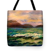 Islands And Wave Tote Bag