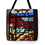 Caribbean Stained Glass  Tote Bag
