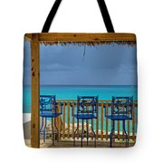 Caribbean View-island Grill Grand Cayman Tote Bag