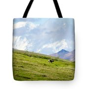 Caribou And Mount Mckinley Tote Bag