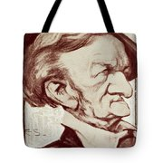 Caricature Of Richard Wagner Tote Bag by Anonymous