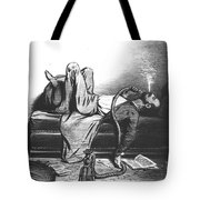 Caricature Of The Romantic Writer Searching His Inspiration In The Hashish Tote Bag