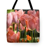 Caring Pink Tulip Time Tote Bag