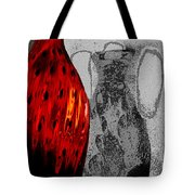 Carmellas Red Vase 2 Tote Bag