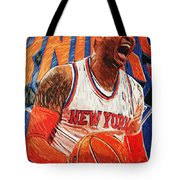 Carmelo Anthony Tote Bag by Taylan Apukovska