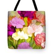 Carnation Bouquet Tote Bag