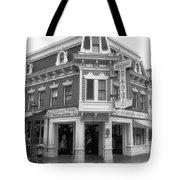 Carnation Cafe Main Street Disneyland Bw Tote Bag