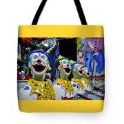 Carnival Clowns Tote Bag by Kaye Menner