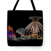 Carnival Rides At Night 04 Tote Bag