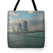 Carnival Triumph Leaves Miami Tote Bag