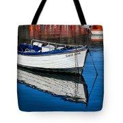 Carol June At Lyme Regis Harbour Tote Bag