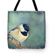 Carolina Chickadee With Decorative Frame I Tote Bag