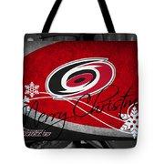 Carolina Hurricanes Christmas Tote Bag