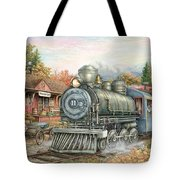 Carolina Morning Train Tote Bag