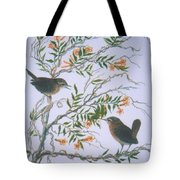 Carolina Wren And Jasmine Tote Bag