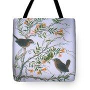 Carolina Wren And Jasmine Tote Bag by Ben Kiger