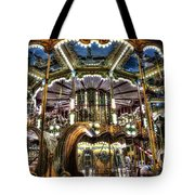 Carousel At Hotel Deville Tote Bag