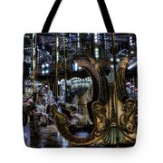 Carousel At Night Tote Bag