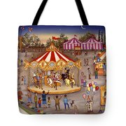 Carousel At The Carnival Tote Bag