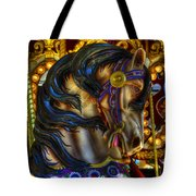 Carousel Beauty Waiting For A Rider Tote Bag