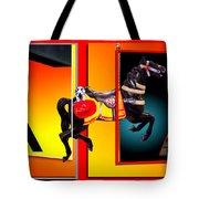 Carousel Horse Fireman 04 In Teal Tote Bag