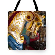 Colorful Carousel Merry-go-round Horse Tote Bag