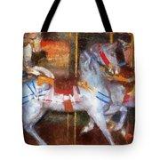 Carousel Horse Photo Art 02 Tote Bag