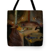 Carousel Horses Painterly Tote Bag