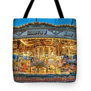 Carousel In Bournemouth Tote Bag